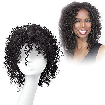 Dingli Hair 100% Real Virgin Remy Human Hair Wigs Short Curly Wavy Full Hair Wigs for Women Natural color 8 inch