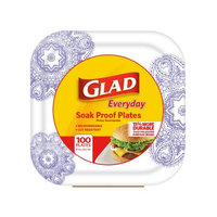 Glad 8.5IN SQ PLATE VIC 100CT