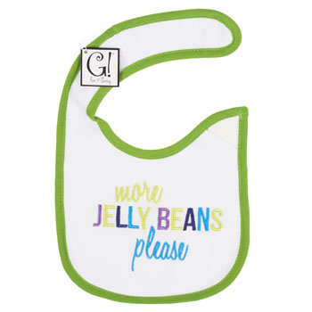 Dollaritemdirect BABY BIB MORE JELLY BEANS 12.5 X 8 COTTON, Case Pack of 144