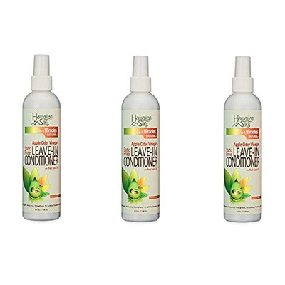 [PACK OF 3] HAWAIIAN SILKY MIRACLES Apple Cider Vinegar LEAVE-IN CONDITIONER 8oz : Beauty