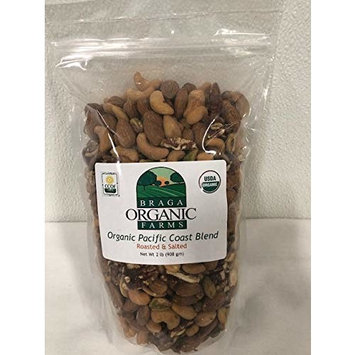 Braga Organic Farms Roasted/Salted Nut Mix, 2 lb Bag