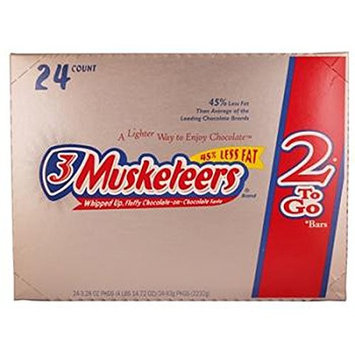 3 Musketeers King Size Chocolate, 24 Count (CHOC. CANDY - KING SIZE)