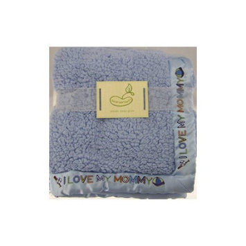 Pem America Beansprout Saying Blanket Crib Throw Blue I Love Mommy - PEM-AMERICA, INC.