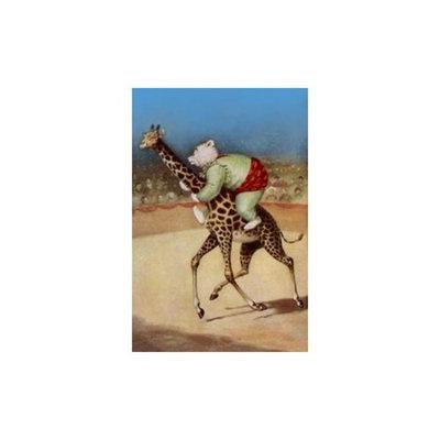 Bear Back Giraffe Racing Print (Unframed Paper Print 20x30)