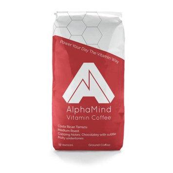 AlphaMind Vitamin Coffee - Costa Rican Tarrazu, medium roast coffee with added vitamins and minerals.