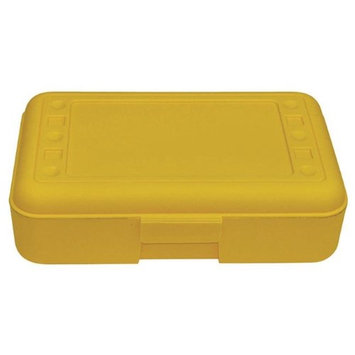 Romanoff Products, Inc. Romanoff Products ROM60203BN 8.5 x 5.5 x 2.5 in. Pencil Box Yellow - 12 Each