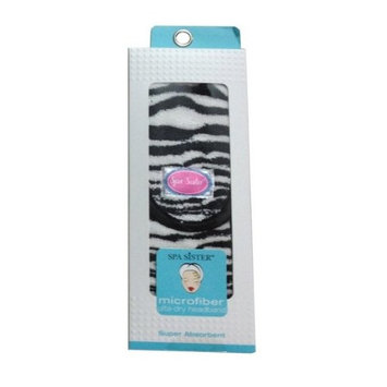 Bath Accessories Ultra Dry Microfiber Headband, Zebra