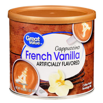 Great Value Cappuccino Beverage Mix, French Vanilla, 16 oz (Pack of 3)