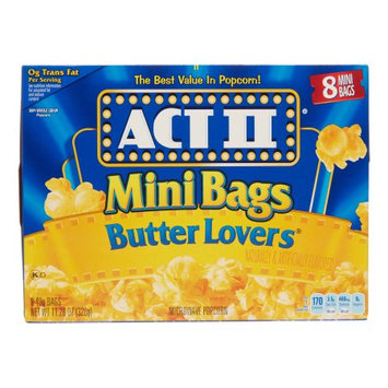 Act II Microwave Popcorn, Mini Butter Lover, 8 Ct
