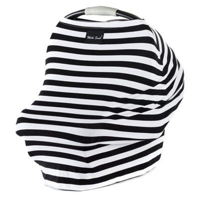 Milk Snob Multifunctional Cover- Black & White Signature Stripe, Black & White Signature Stripes