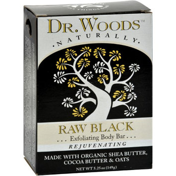 Dr. Woods Naturally Bar Soap Raw Black 5.25 oz