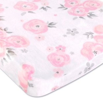 Wendy Bellissimo tm Wendy Bellissimo(TM) Savannah Pink and Grey Floral Print Changing Pad Cover