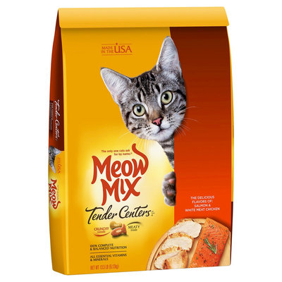 Del Monte Meow Mix Tender Centers Salmon & White Meat Chicken Flavors Dry Cat Food - 13.5 lb