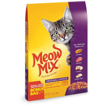 Del Monte Meow Mix Original Choice Dry Cat Food - 16 lb, Antler