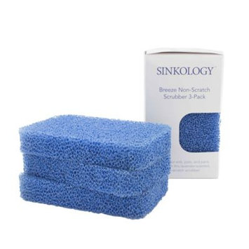 Sinkology Breeze 4.8 in. Non-Scratch Odor Resistant Silicone Scrubbers (Pack of 3)