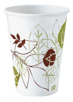 Dixie Paper Cups Pathways Paper Hot Cups, 12 oz, 500/Carton