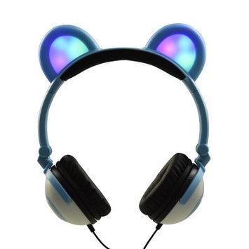 Edm Imports Inc Jamsonic Multicolored LED Light Up Foldable Panda Ear Headphones use for Phones, PC, MP3, MP4