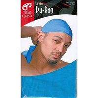 (PACK OF 6) TITAN CLASSIC SATIN DURAG #SKY BLUE #11136 : Beauty