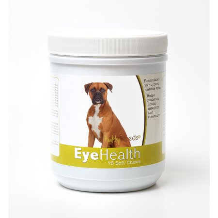 Healthy Breeds 840235145707 Boxer Eye Health Soft Chews - 75 Count
