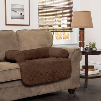 Innovative Textile Solutions Large Plush Bolster Chair Protector Chocolate