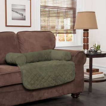 Innovative Textile Solutions Large Plush Bolster Chair Protector Olive