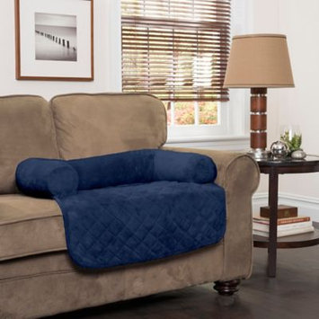 Innovative Textile Solutions Large Plush Bolster Chair Protector Navy