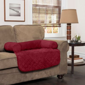Innovative Textile Solutions Large Plush Bolster Chair Protector Burgundy