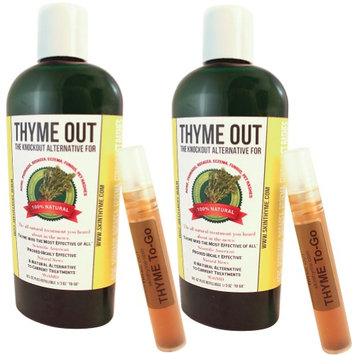 Thyme Out Llc (Set/2) Thyme Out All Natural Skincare Treatment For Acne Psoriasis Rosacea