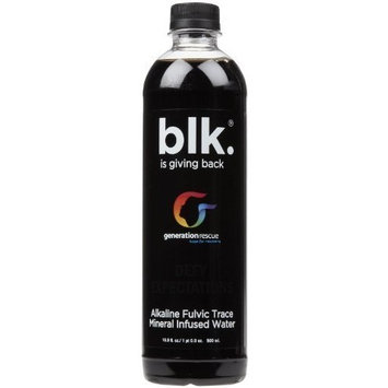Blk Beverages Spring Water With Fulvic Acid, 16.9 oz, 24 ct by blk