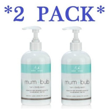 Aden and Anais Mum and Bub Hair and Body Wash 12 Fluid Ounce ** 2 PACK **