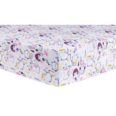 Test Trend Lab Cool Cats Deluxe Flannel Fitted Crib Sheet, Multi-Colored