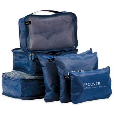 Bucky DARK BLUE TRAVEL ORGANIZER SET OF 6