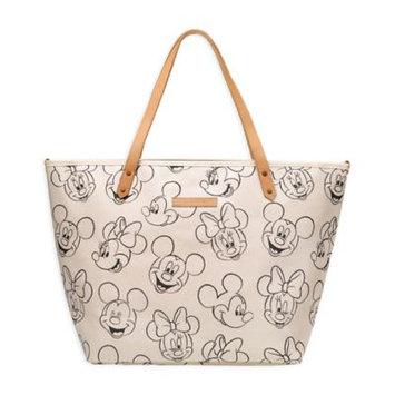 petunia pickle bottom - Glazed Downtown Tote (Sketchbook Mickey/Minnie) Tote Handbags