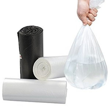 Nicesh 1.6 Gallon Small Trash Bags, Black, Clear and White, 75 Counts