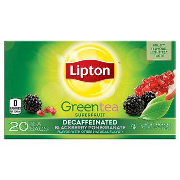Unilever Lipton Decaffeinated Blackberry Pomegranate Green Tea Superfruit 20 ct