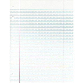 School Smart Cursive Ruled Notebook Paper with Margin - 8 x 10 1/2 - Ream of 500 - White
