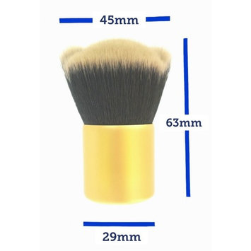 Dinnx Kabuki Brush Makeup Foundation Loose Powder Setting Face Bronzer Blush Compact Concealer Blending Buffing Contour Beauty Cosmetic Tools Liquid Cream Golden Cute Soft Paw Cruelty Free