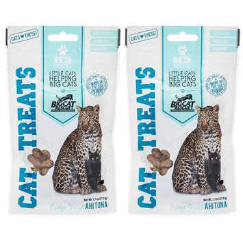 Big Cat Rescue 840235137986 2 - 1.1 oz Packages Freeze Dried Ahi Tuna Treats for Cats