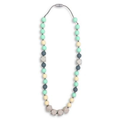Itzy Ritzy® Teething Happens™ Chewable Silicone Mom Jewelry Teether Necklace in River Mist
