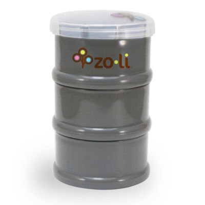 ZoLi PODS Stacking Snack Container in Grey