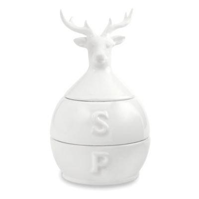 Mud Pie® Deer 3-Piece Stacked Salt and Pepper Set