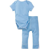 Miraclewear Size 0-6M 2-Piece Posheez Snap'n Grow Bodysuit and Pant Set in Blue