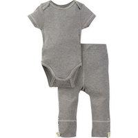 Miraclewear Size 6-12M 2-Piece Posheez Snap'n Grow Bodysuit and Pant Set in Grey/Yellow