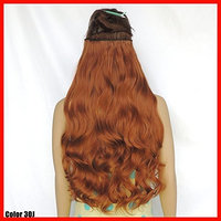 NiCheng 5clips Long Curly/Wavy Clip-in Hair Extensions Soft Synthetic Fiber Women's Popular Hairpieces 22inch 130g 32colors
