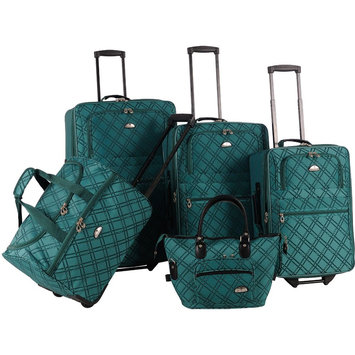American Flyer Pemberly Buckle 5 Piece Luggage Set