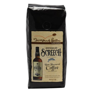 Jumping Bean Screech Rum Flavored Coffee, Whole Bean - 1 lb