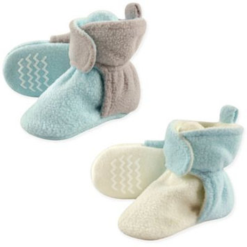 Hudson Baby Boy or Girl Unisex Fleece Non-Skid Sole Booties, 2-pack