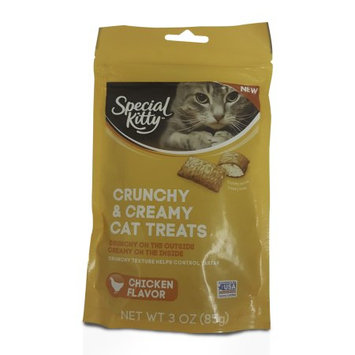 Special Kitty Crunchy Chicken Flavored Cat Treat, 3oz