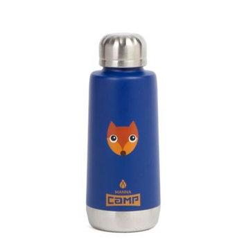 Manna™ Moda Kid's Double Wall Stainless Steel 12 oz. Fox Water Bottle in Blue
