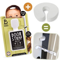 Door Buddy Baby Door Lock Plus Finger Pinch Guard Foam Door Stopper